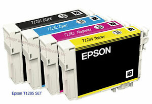 epson original t1285 multipack ink cartridges t1281 new ebay. Black Bedroom Furniture Sets. Home Design Ideas