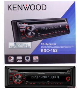 Kenwood-KDC-152-In-Dash-Car-Stereo-CD-Player-AM-FM-Receiver-With-FREE-Aux-Cable