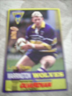 Lee Penny Warrington Wolves trading card - Warrington Guardian 2000