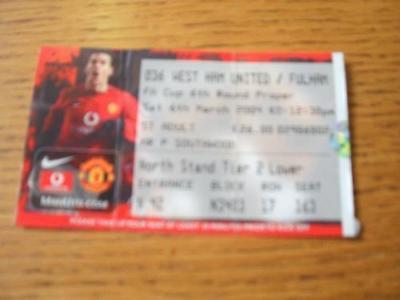 06/03/2004 Ticket: Manchester United v West Ham United