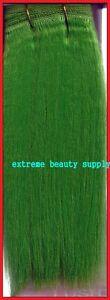 Green Hair Weft 89