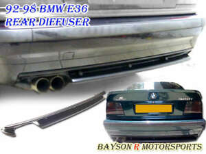 91-99 BMW E36 3-Series M3 Rear Bumper Lip Diffuser (ABS)