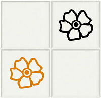 Flowers - Bathroom Tile Transfers / Vinyl Art Decal / Kitchen Tile Transfer Ti2 - laographics - ebay.co.uk
