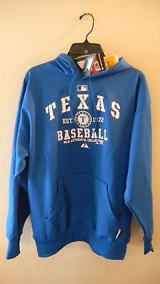 Texas Rangers classic Hooded Fleece, Blue, Large