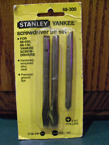 Stanley-Yankee-Screwdriver-Old-Vintage-Bits-North-Bros-130-130A-30A-68-130-NOS