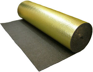 5mm gold damp proof laminate floor underlay 15m2 rolls ebay for Laminate roll flooring