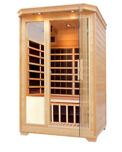 2 Person Luxury Infrared Sauna Carbon Fiber Heat Saunas