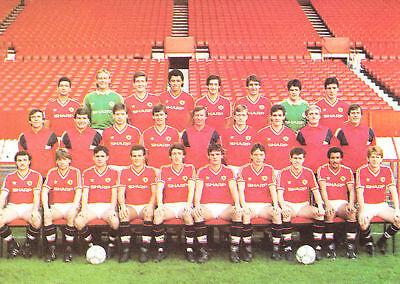 MAN UTD FOOTBALL TEAM PHOTO 1986-87 SEASON