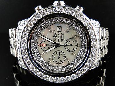 Mens Breitling Super Avenger Full Diamond Watch 32 Ct