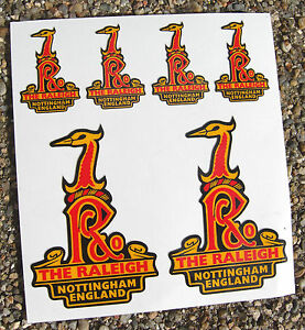 RALEIGH-Vintage-style-Cycle-Bike-head-frame-Stickers