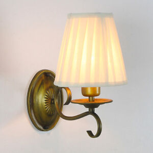 Classic Wall Lamp Light Sconce with Linen Antique New