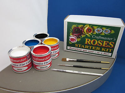 Craftmasters Canal Roses Starter Kit - Learn To Paint