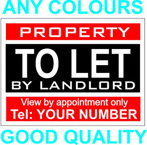 Property to let sign board Personalised x 1