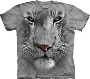 THE-MOUNTAIN-WHITE-TIGER-WILD-ZOO-ANIMAL-FACE-T-SHIRT-M