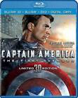 Captain America: The First Avenger (Blu-ray/DVD, 2011, Canadian; 3D; Includes Digital Copy)