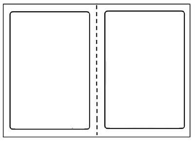 R 1000 Round Corner Shipping Labels 2 Per Sheet8.5 X 11-self Adhesive Usps Fedex