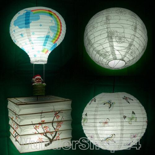 Lampenschirm Papier Lampe Kinder Papierlampe 13 Motive B-ware