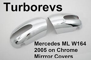 CHROME WING DOOR MIRRORS COVERS MERCEDES ML W164