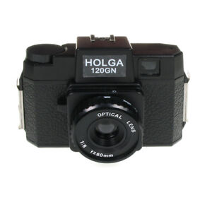 Holga 120 Glass Lens Film Camera without Flash - BLACK