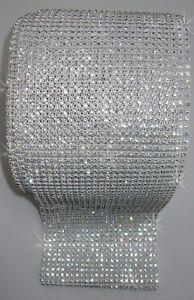24strip WHITE REEL Chain trim CRYSTAL DIAMANTE sewing DIY Curtain bling decor