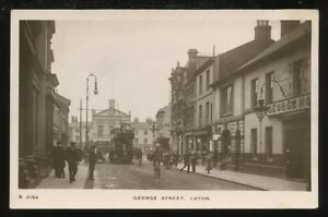 Beds-LUTON-George-St-Town-Hall-Tram-RP-PPC