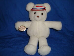 Gund-White-Teddy-Bear-wearing-Hat-1990-10