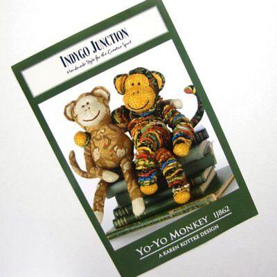 Yoyo Monkey Indygo Junction Pattern Crafts Quiltingnew