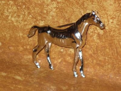 "Horse Pin Silver Tone Pony Metal Lapel Hat Brooch 2"""