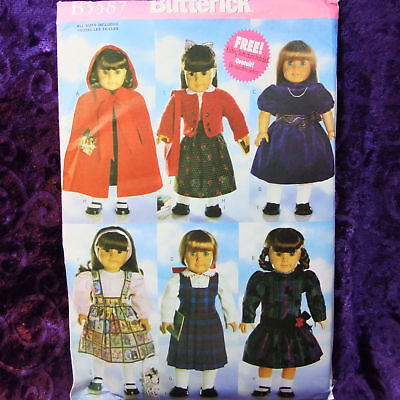 Butterick 5110 18 Inch Doll Clothes Patterns 6 Designs