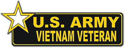 "U.S. Army Vietnam Veteran with Star 6"" Bumper Sticker Decal"