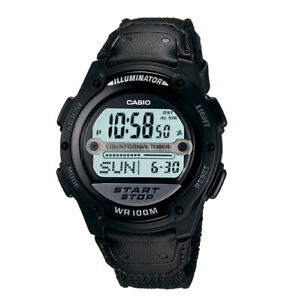 Casio-Mens-Digital-Sport-Watch-100-Meter-WR-Fabric-Strap-Low-Ship-W756B-1AV