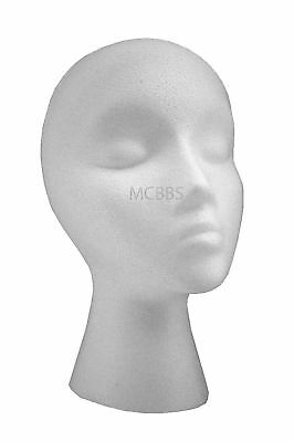 Lot Of 12 Styrofoam Mannequin Head For Wig/hat/displays