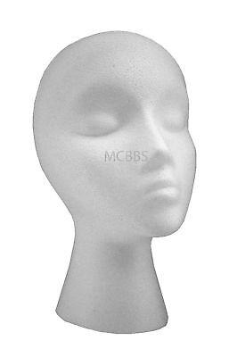 Lot Of 12 Styrofoam Mannequin Head For Wig/hat/displays
