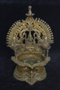 Bronze-Hindu-votive-ethnic-oil-lamp-Deepalakshmi-India-early-20th-century