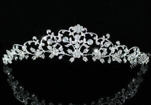 Bridal Wedding Flower Tiara use Swarovski Crystal T1470