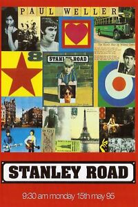 PAUL WELLER_STANLEY ROAD_GLOSSY LAMINATED ADVERT_POSTER