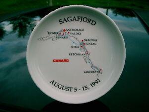 SAGAFJORD-CUNARD-1991-ROSENTHAL-COASTER-ASHTRAY-GERMAN