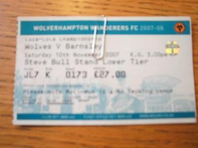 10/11/2007 Ticket: Wolverhampton Wanderers v Barnsley