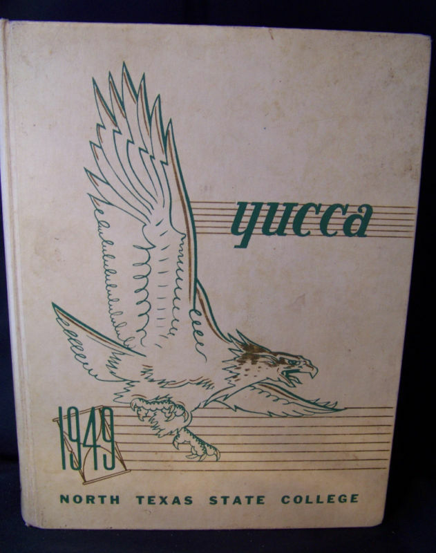 Yucca 1949 North Texas State College Yearbook Denton TX