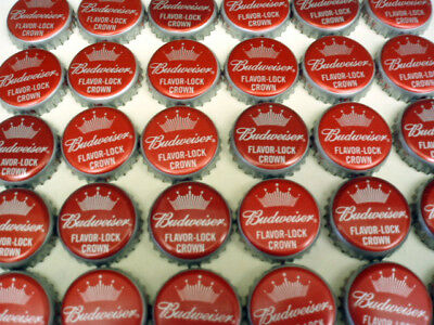 500 BUDWEISER BUD RED FLAVOR LOCK BEER BOTTLE CAPS CROWN NO DENTS FREE FAST SHP