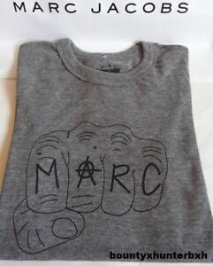 MARC-JACOBS-Grey-Fist-Short-Sleeve-Tee-T-Shirt-Polo-M-Medium