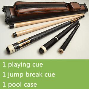 Pool Cue Kit Set Awesome Stick Jump Break Q Case KB4   eBay