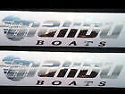 2 HUGE CHROME MALIBU BOATS DECALS STICKERS SKI RACE W@W
