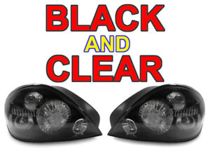 1999-2004 PONTIAC GRAND AM GT1 DEPO CRYSTAL BLACK HOUSING CLEAR LENS TAIL LIGHTS