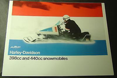 1973 AMF HARLEY-DAVIDSON SNOWMOBILE BROCHURE NICE 6 PG