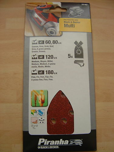 5 x Black & Decker Multi Sander / Mouse Sanding Sheets