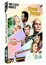 South Pacific/Oklahoma/The King And I (DVD, 2006, 3-Disc Set, Box Set)  SEALED