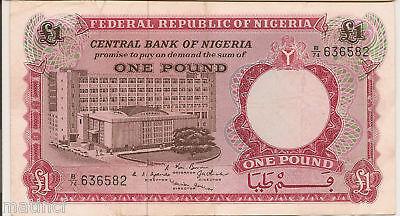 1967 Federal Republic Of Nigeria  1 Bank Note