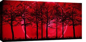 LARGE-RED-BLACK-MODERN-LANDSCAPE-CANVAS-PICTURE-40
