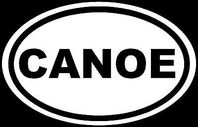 CANOE Sticker Water Sports Vinyl Window Decal Laptop